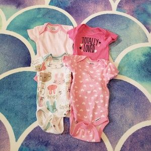 30% Off Bundles Lot of 3 Baby Girl Body Suits